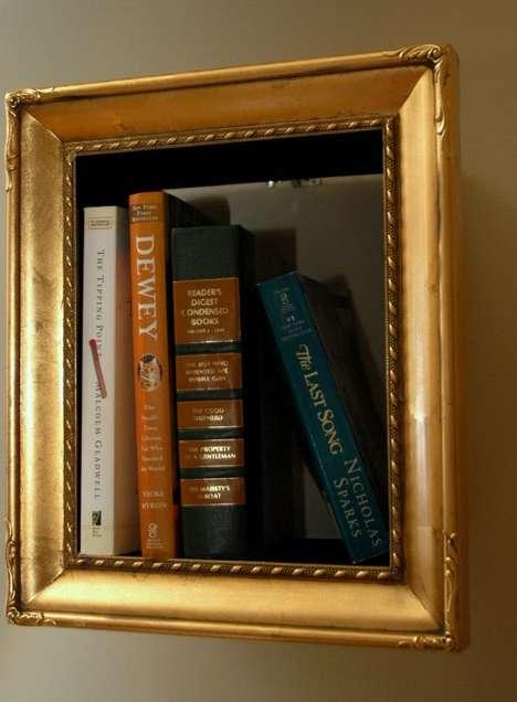 Illusory Picture Frame Bookshelves