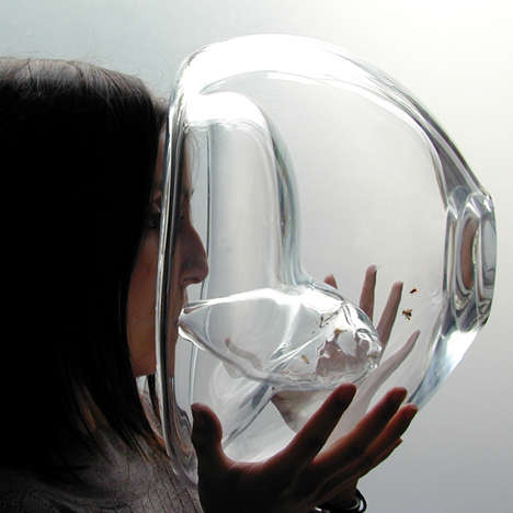 Cancer-Detecting Bee Containers - Susana Soares' Glass Sculptures Use Honey Bees to Detect Cancer