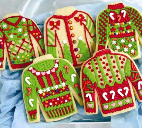 These 'Tasteless Biscuits' are Decorated to Look Like Holiday Sweaters