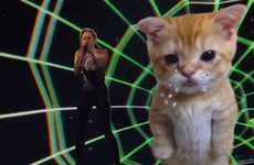 Psychedelic Feline Celebrity Performances - The Miley Cyrus 2013 AMA Gig was an Ode to Cat Ladies