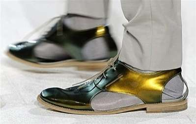 Socks With Sandals - Gold Shoedals by Alexander McQueen