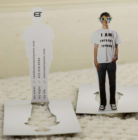 You As A Pop Up Greeting - Stand-Up Doll Contact Cards