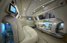 Swanky VIP Rooms on Wheels - Luxury Limousine Interiors