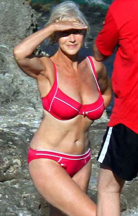 Sexy Celebrity Stomach Surveys - Senior Helen Mirren is #3