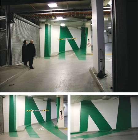 3-D Parking Garage Signs