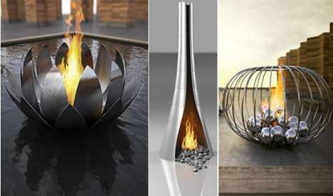 Luxury Fire Sculptures - Ultra Modern Fireplaces by Elena Colombo