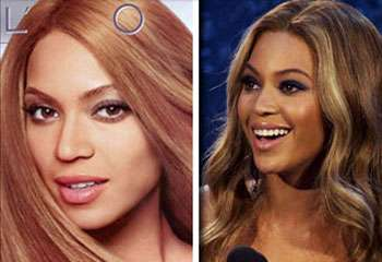 Racist Photoshopping - L'Oreal Denies Whitening Beyonce