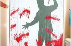 "Motion Activated Shower Curtains - Bloody ""Psycho"" Curtain"