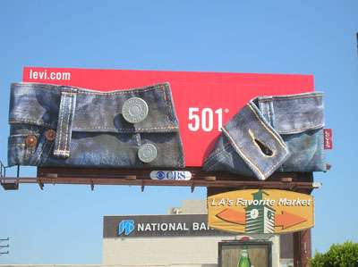 Stripping on Highways - Sexy Levi's 501 Billboard