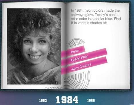 Interactive Retro Flashbacks - Yearbook Yourself