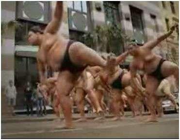 Sumo Wrestler TV Ads