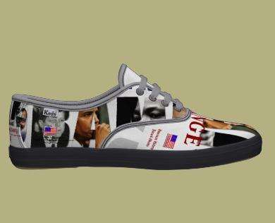 Graphic Obama Shoes - Candidates Baracked By Fashion