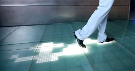 Disco Style LED Flooring - Sensacell Floor Tracks Footprints in Real Time