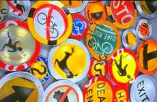 Dining on Recycled Traffic Signs - Metal Work by Boris Bally