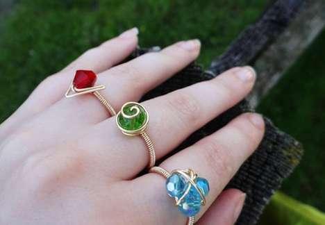 Elemental Crystal Rings