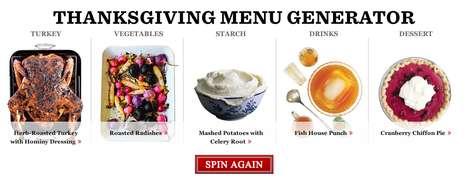 Thanksgiving Menu Generators