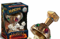 Shire-Styled Board Games - The Hobit Yahtzee Edition Includes a Precious Bejewelled Chalice