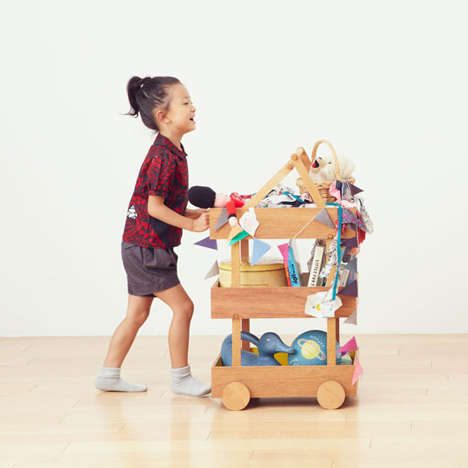 Minimalist Toy Toters - The Koloro Wagon Makes it Easy to Get Kids to Clean Up After Play