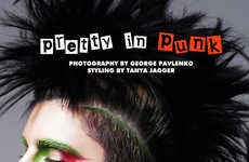Girly Rebellious Editorials - The Fashion Gone Rogue 'Pretty in Punk' Photoshoot Stars Sasha Panika