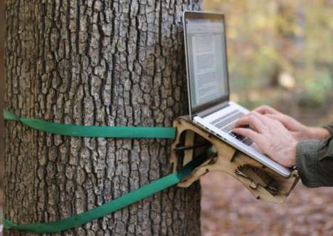 Great Outdoor Workstations - The Standing Tree Desk by Andrew Quitmeyer is Ultimately Healthy