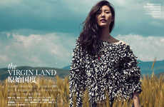Exotic Countryside Editorials - The ELLE China Cover Shoot Stars Liu Wen