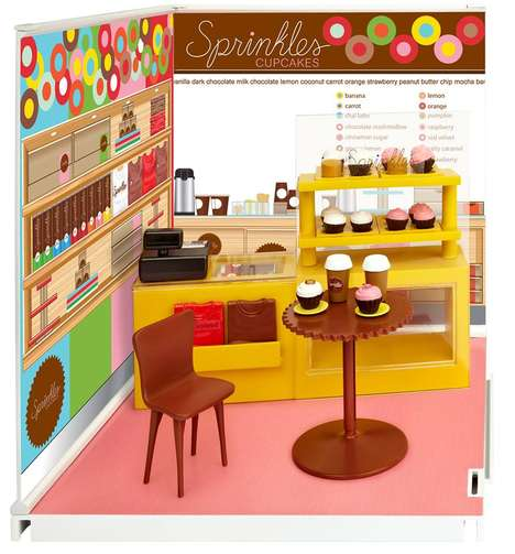 Mini Cupcake Shop Toys - The Sprinkles Cupcakes Mini Playset is a Tiny Replica of the Sweet Shop