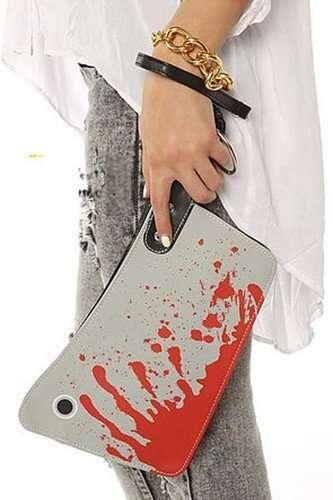 Macabre Blood-Splattered Clutches