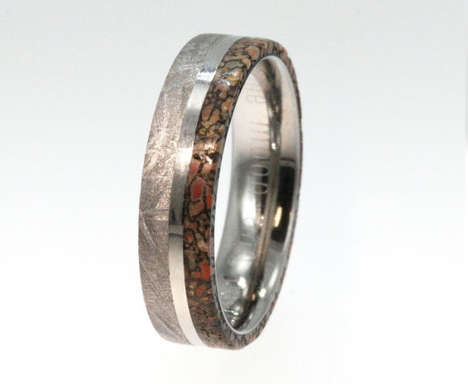 Prehistoric Wedding Bands - This Dinosaur Bone Band is Literally Out Of This World