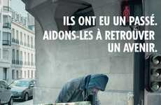 Nostalgic Homeless Ads - This French Homeless Campaign is a Blast From the Past