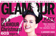 Christmas-Themed Celebrity Editorials - Katy Perry is Unwrapped for Glamour UK