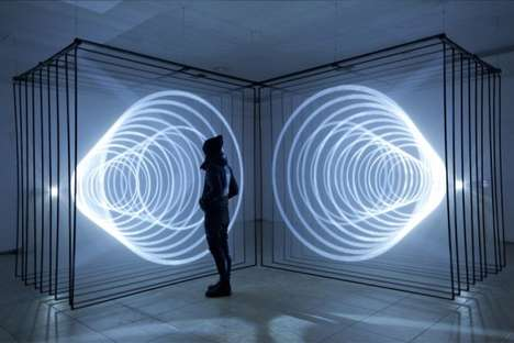 Illuminated Vortex Installations