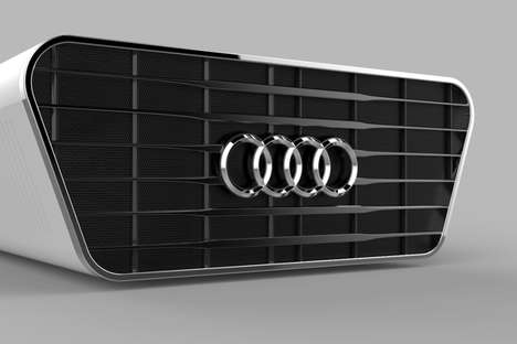 Car Grille Gadgets - The Audi Concept Projector Assumes the Streamlined and Flashy Face of a Vehicle