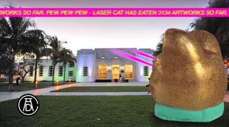 Bizarre Art-Projecting Cats (UPDATE)