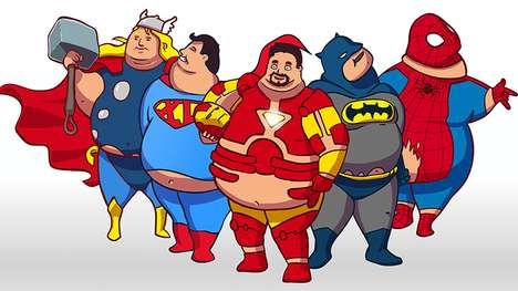 Fattened Comic Book Characters