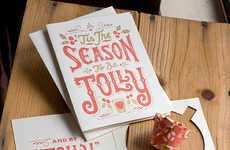 Holiday Card Shot Glasses - The Jolly Shot Glass Cards are a Shot of Christmas Cheer