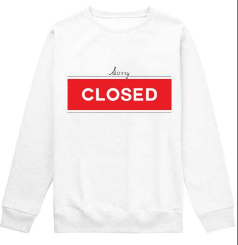 Hilarious Shop Sign Sweaters - This Shop Sign Sweater Lets the World Know You're Closed For Business