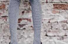 Romantic Verse-Printed Tights