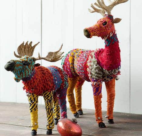 DIY Rainbow Reindeer Ornaments