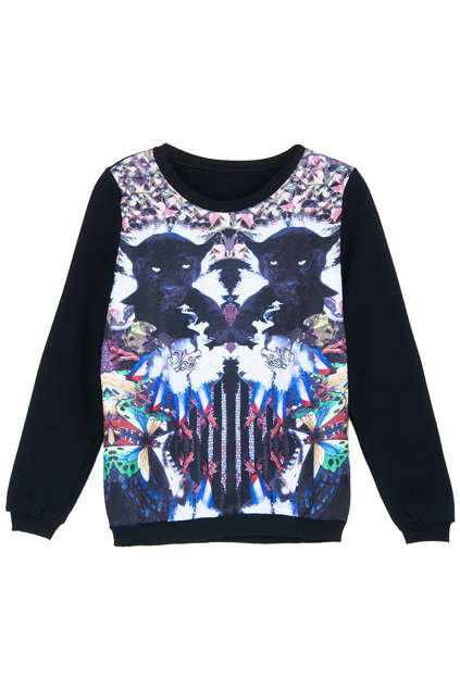 Kaleidoscopic Panther-Printed Shirts