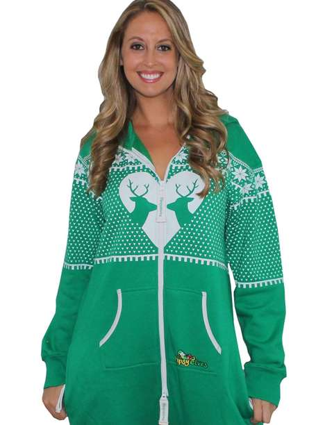 Cozy Christmas Onesies - Tipsy Elves Adds Festive Onesies to its Line of Holiday 'Ho' Couture