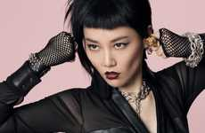 Glam Rock'n'Roll Celeb Editorials - The Jalouse China Cover Shoot Stars Rinko Kikuchi