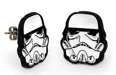 Sci-Fi Soldier Studs - These Star Wars Stormtrooper Earrings are Perfect for Sci-Fi Fans