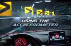 Interactive Car Racing Ads - This Mazda Ad Gets a Theater Audience to Race Cars with Their Phones