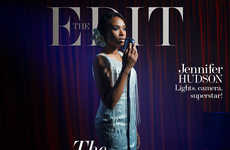 Old-School Diva Editorials - Jennifer Hudson Stars in the Edit 's Diva Issue