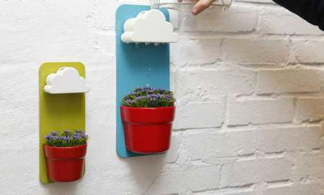 Cute Cloudy Planters - The Rainy Pot Evenly Distributes Your Watering Efforts Like Natural Showers