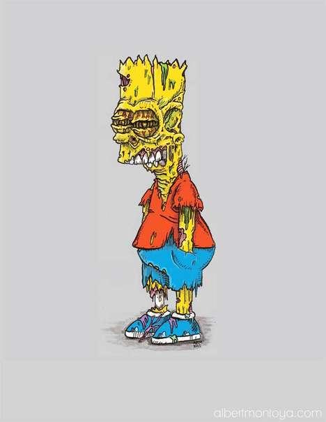 Iconic Cartoon Zombie Makeovers
