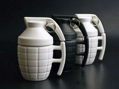 These Porcelain Mugs Were Designed to Look Like Grenades