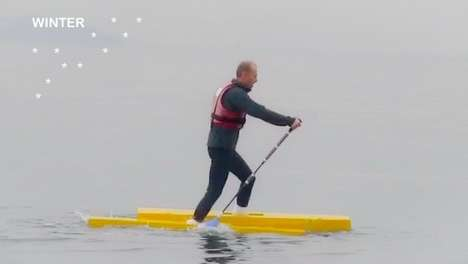Cross-Country Aquatic Skis