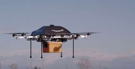Mail Delivery Drones - Amazon Prime Air is a Futuristic Aerial Mail Delivery Service That Uses UAVs