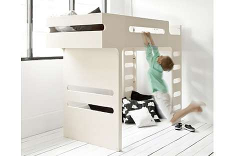 Monkey Bar Beds - The F Bunk Bed Encourages Play in Your Children's Quarters
